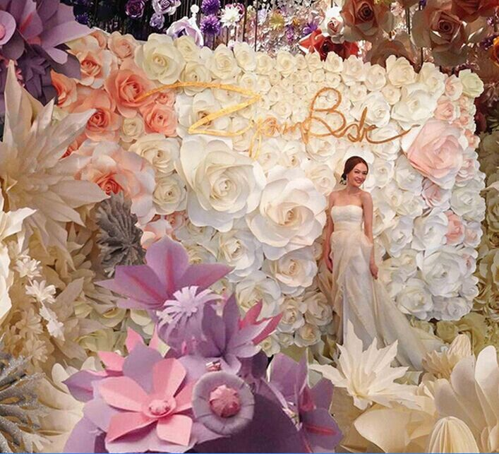 220 best images about wedding backdrops on pinterest - Adornos de papel para fiestas ...