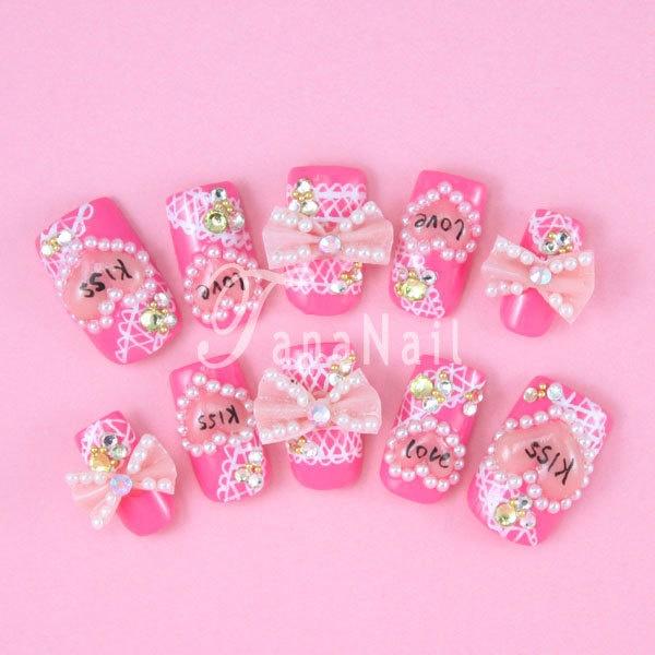 322 best Japanese 3D Nail Art images on Pinterest | Bling nails ...