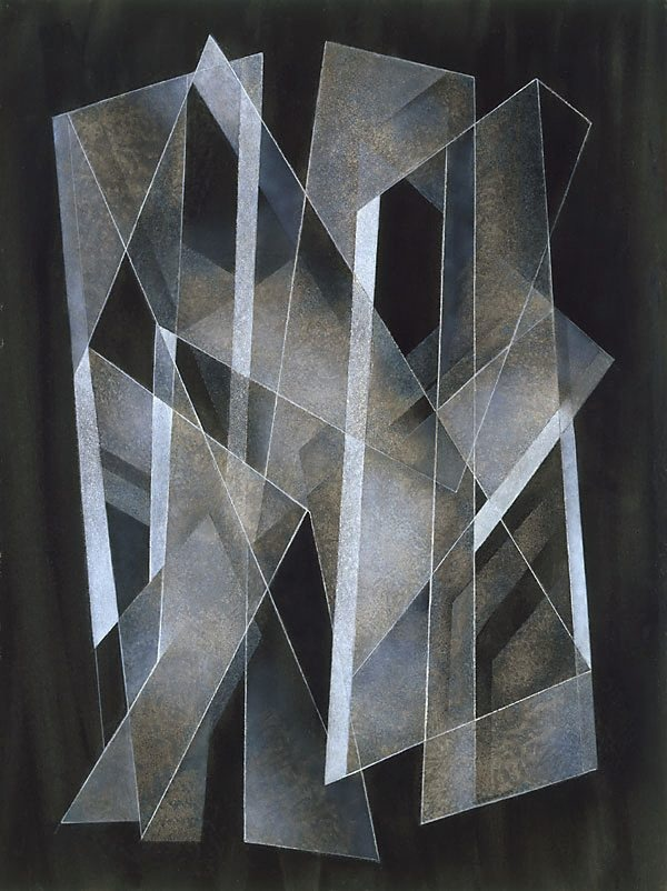 Frank Hinder ~ Abstract painting 4, 1976 (synthetic polymer)