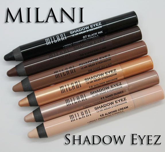 Milani Naturally Chic Shadow Eyez Review ~ I have these in Black Ink, Café Au Lait and Almond Cream. IMO they are perfect alone and as a base for powder eyeshadow. One of the best makeup investments I've made. Gonna purchase more in the future. ~ <3