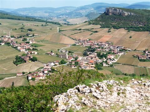 View from Roche Solutre on walking holiday in Burgundy France