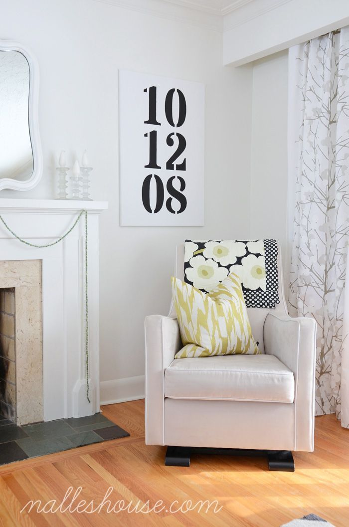 For the master bedroom with anniversary date. Love this!
