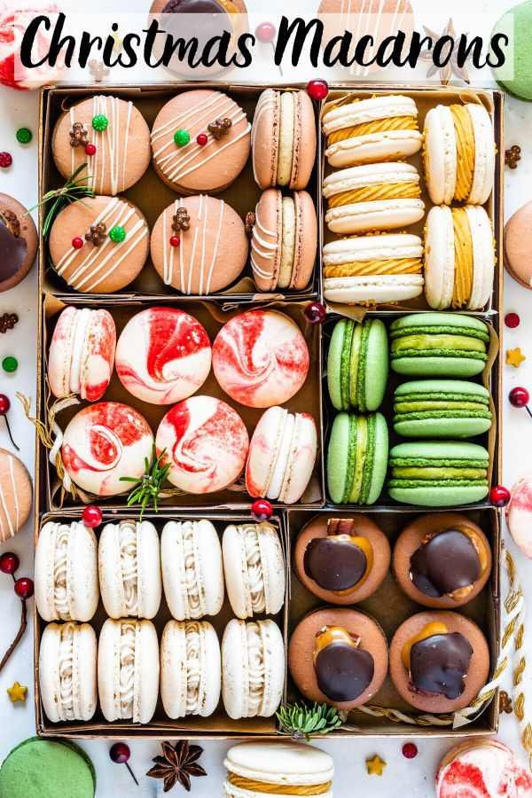 Christmas Flavours 2020 Christmas Macarons in 2020   Macaroon recipes, Macaron flavors