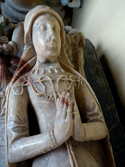 Priory Church, Little Dunmow, Essex. 15c alabaster effigy. Legend tells us that this is Marion Fitzwalter known from the Robin Hood stories as Maid Marion.