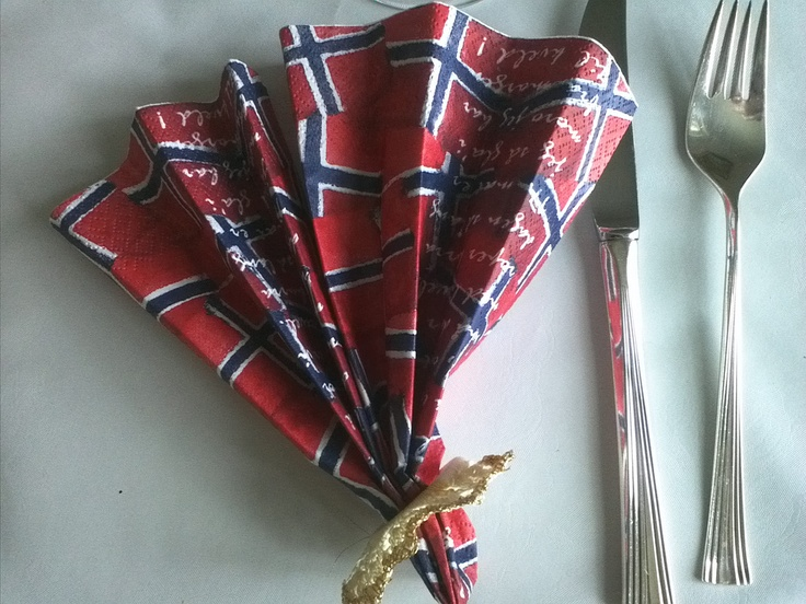 Decorating the table for Syttende Mai frokost (breakfast) is a must!
