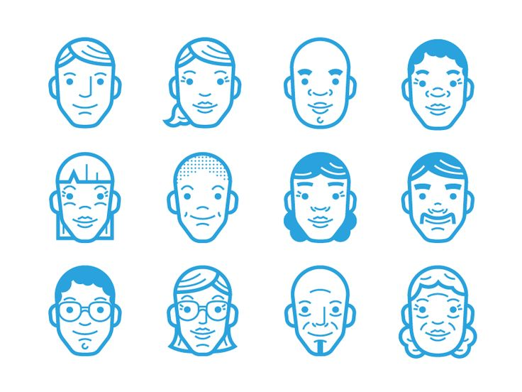 Working on some simple avatar illustrations for a simple ad.