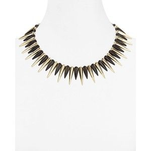 Cara Accessories Black Spike Necklace, 14