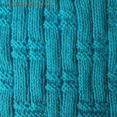 Reed knitting stitches