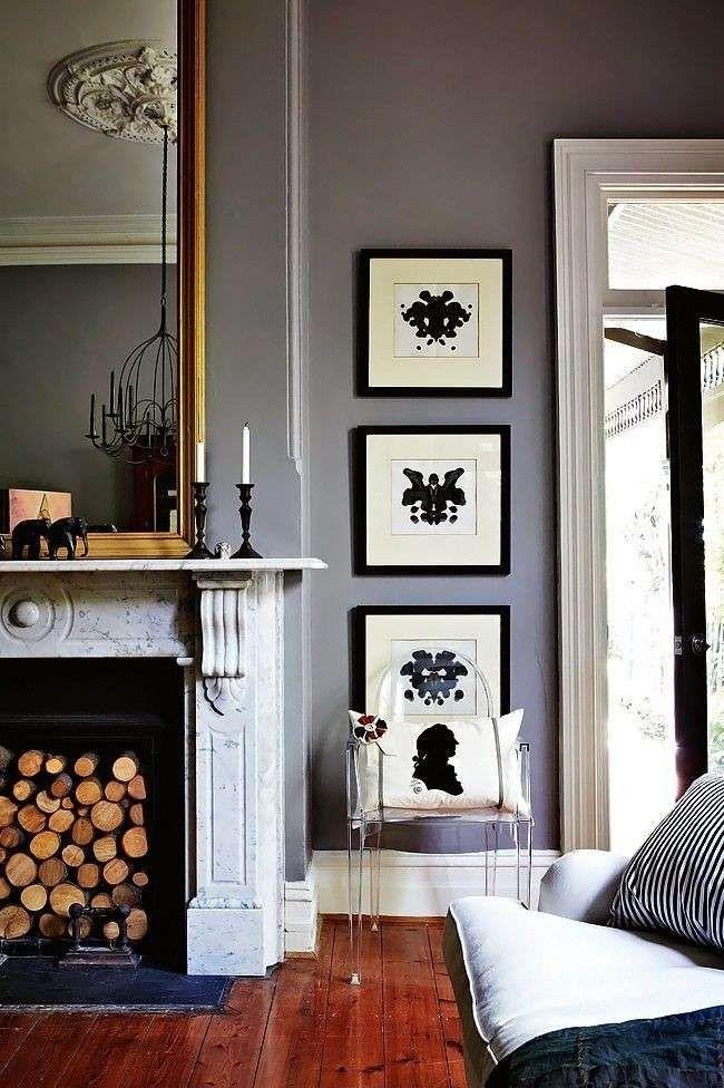 Abbinare i colori in una stanza - Colore contrasto con le cornici