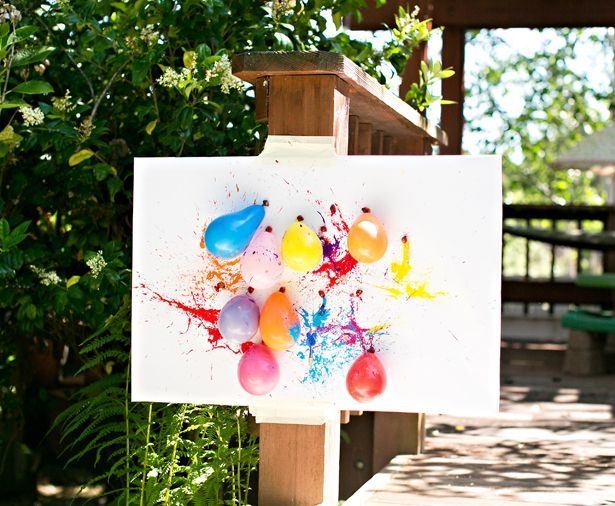 hello, Wonderful - BALLOON DART PAINTING WITH KIDS