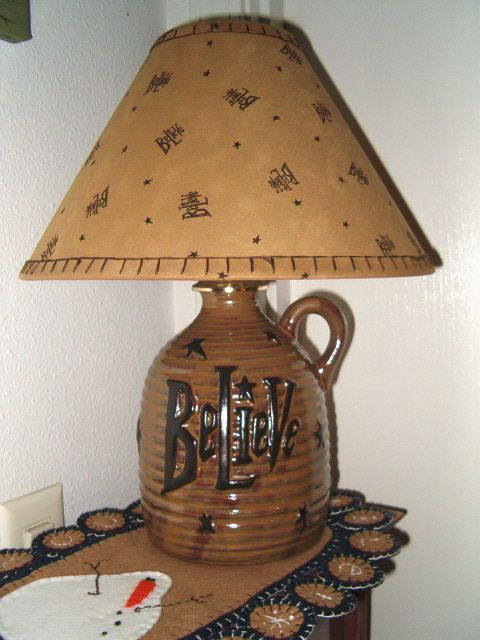 primitive lamps | Primitive Lamp Believe... | Lamps, country & primitive | Pinterest
