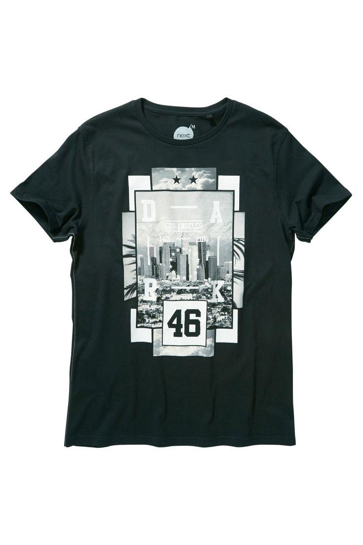 Buy Black LA Photo T-Shirt from the Next UK online shop