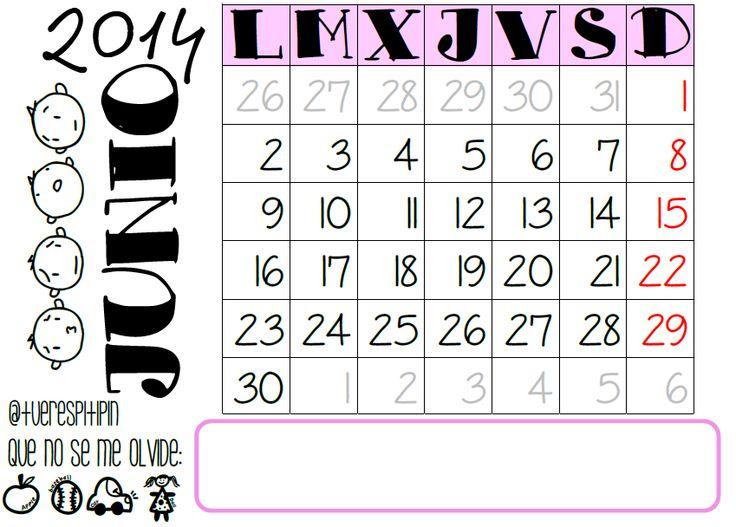Calendario junio 2014 {listo para imprimir}