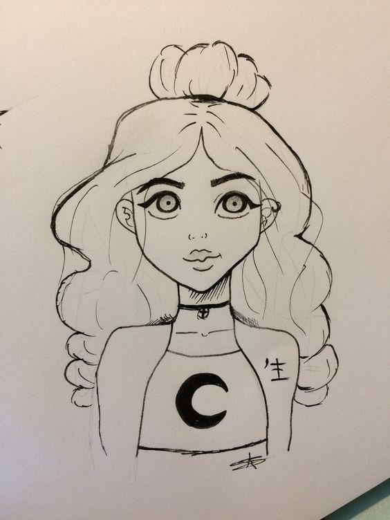 Красивые и легкие картинки для срисовки карандашом для девочек новичков
