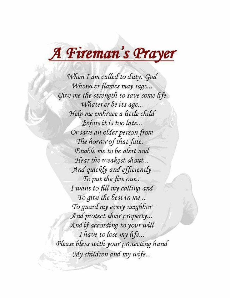 Best  FiremanS Prayer Ideas On   Firefighters