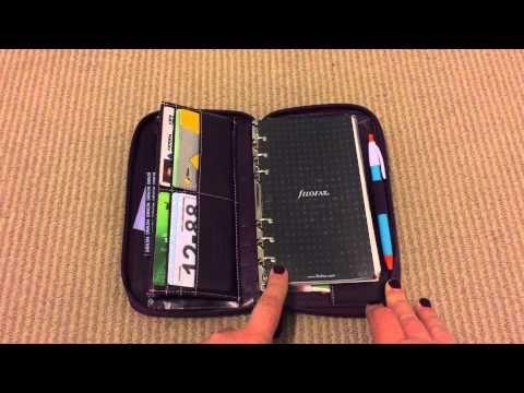 Compact Zippered Malden Filofax Setup 2015 - YouTube