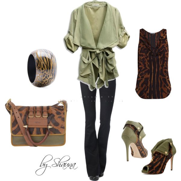 ocelot print with an amazing olive green wrap