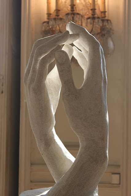 Rodin- This is so beautiful, I love Rodin's work. He really goes into every detail. This sculpture may only be of two hands, but it is so sensual and beautiful, you know it is between a man and a woman who just love the touch of the other. I love this.