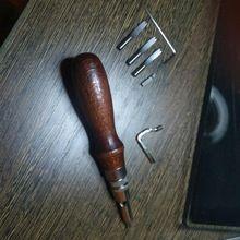 Prático 5 em 1 Conjunto De Ferramentas De Couro DIY Leather craft Pro Costura Groover Crease P5 Loja Online   aliexpress móvel