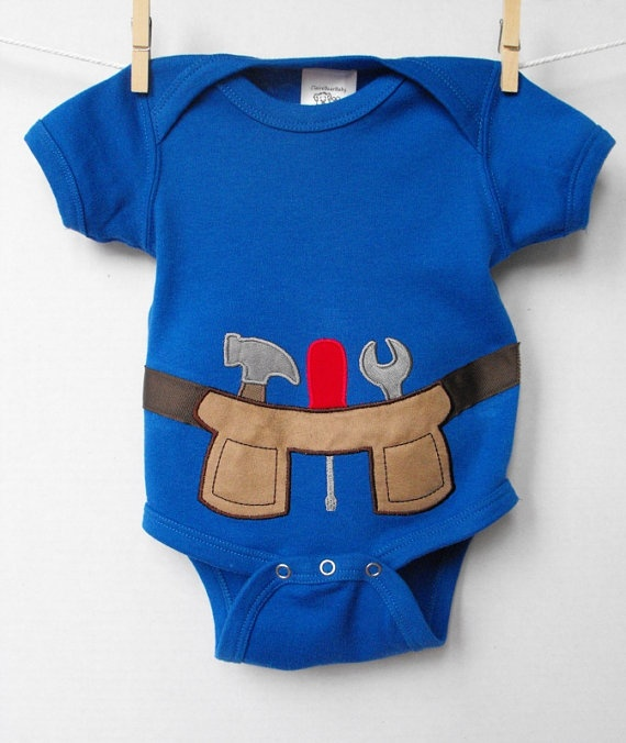 Tool Belt Onesie 3 to 6 months by ClaireBearBaby on Etsy, $20.00: Tools, Etsy, 6 Months, Kids, Baby Tool Belt, Belt Onesie, Baby Boy, Belts