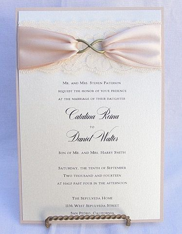 INFINITY  BRONZE VERTICAL Lace Wedding by LavenderPaperie1 on Etsy, $5.50