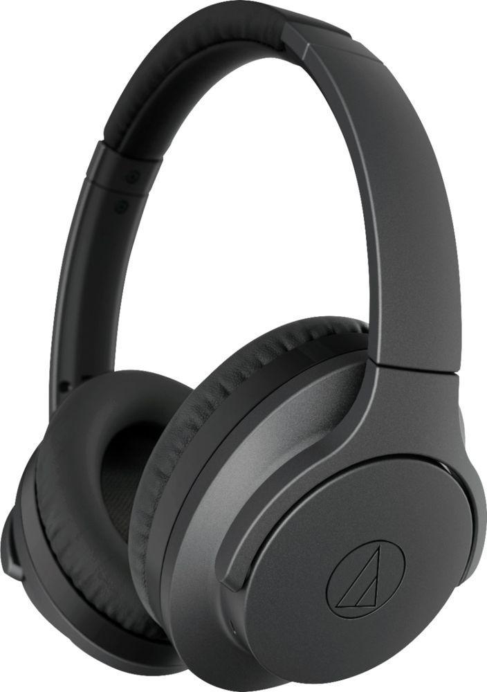 Audio Technica Quietpoint Ath Anc700bt Wireless Noise Cancelling Over The Ear Headphones Black Ath Anc700btbk Best Buy Audio Technica Noise Cancelling Headphones