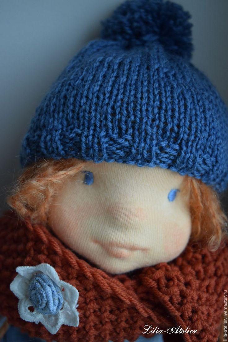 Купить Аня, авторская текстильная кукла - рыжий, вальдорфская кукла, авторская кукла, натуральная игрушка