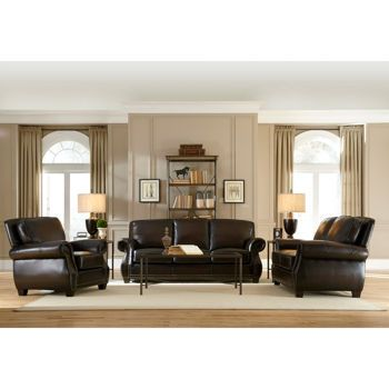 Costco marcella 3 piece leather set lake house ideas pinterest living room leather for Costco leather living room sets