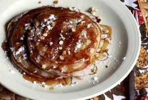 Hazelnut and Raspberry Jam Pancakes | Breakfast | Pinterest