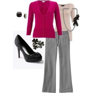 work clothes polyvore