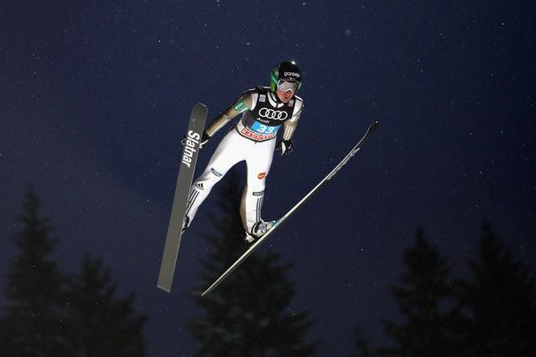 Cene Prevc of Slovenia competes at the first round on Day 2 of the 65th Four Hills Tournament ski jumping event at Paul-Ausserleitner-Schanze on January 6, 2017 in Bischofshofen, Austria.