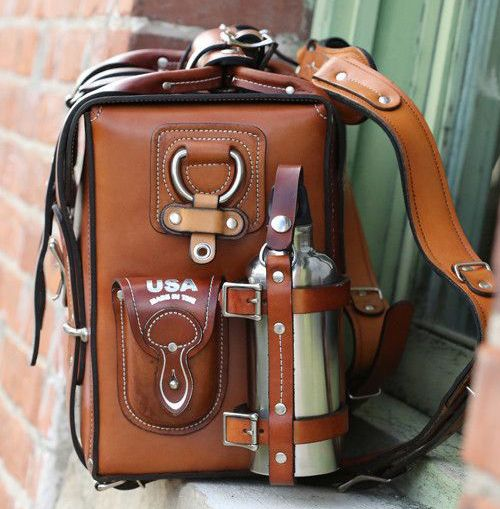 The Lewis Expedition Bag -- beautiful! Unaffordable for me and probably not the most practical (heavy), but very beautiful