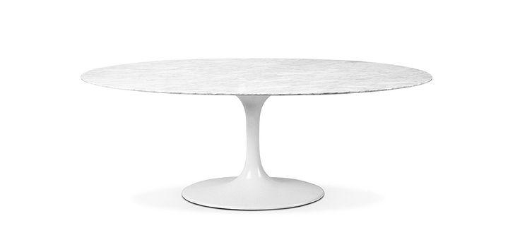 Table ovale Tulipe - inspirée Eero Saarinen - Marbre - 199 cm