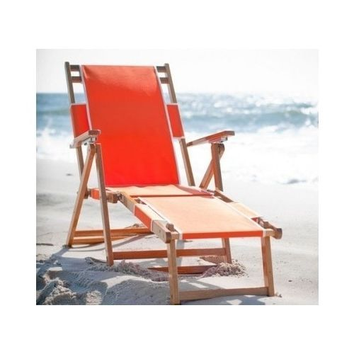 Wooden Beach Chair Folding Patio Lounger Orange C&ing Deck Recliner Yard Seat #ModernTraditional  sc 1 st  Pinterest & 9 best Beach images on Pinterest | Beach umbrella Canopies and ... islam-shia.org