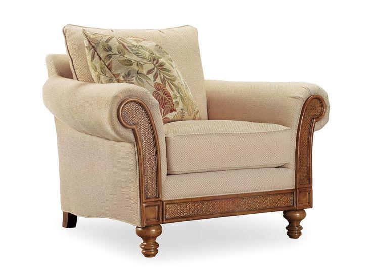 Очаровательное, нежное кресло из коллекции Windward. Кресло выполнено в спокойной светло-коричневой отделке и обито текстилем кремового цвета. К креслу прилагается 56 сантиметровая декоративная подушка. Модель изготовлена из твердой породы дерева с примен...             Метки: Кресла для дома, Кресло для отдыха.              Материал: Ткань, Дерево.              Бренд: Hooker Furniture.              Стили: Классика и неоклассика.              Цвета: Бежевый.