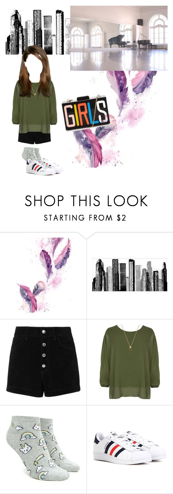 """""""Vocal Practice [Yoon Mi Rae - Because of You]"""" by yeomie ❤ liked on Polyvore featuring RoomMates Decor, rag & bone/JEAN, WearAll, Forever 21 and adidas"""