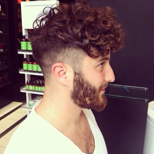 Men hair, Clipped Sides and Curly Mop Top. I like it, not sure why
