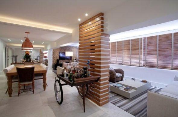 15 modelos de pilares para decorar a casa ambientes for Modelos de apartamentos
