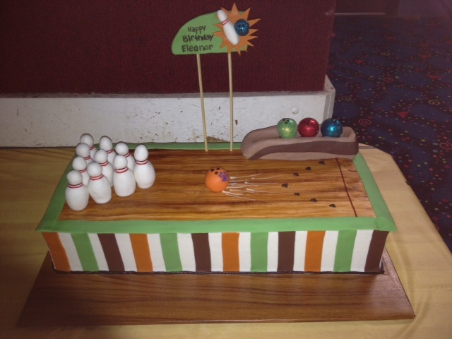 bowlingcake by Couture Cakes of Greenville, via Flickr