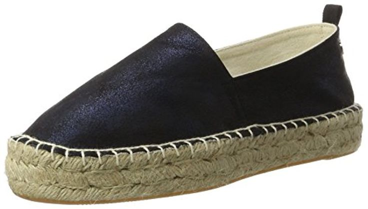 Xti Navy Metallic Ladies Shoes, Espadrilles femme 2018