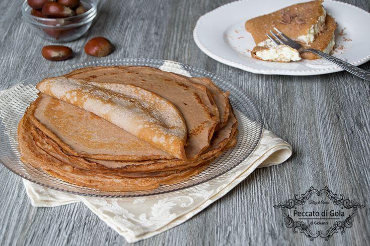 Crepes+con+farina+di+castagne+senza+zucchero+e+glutine