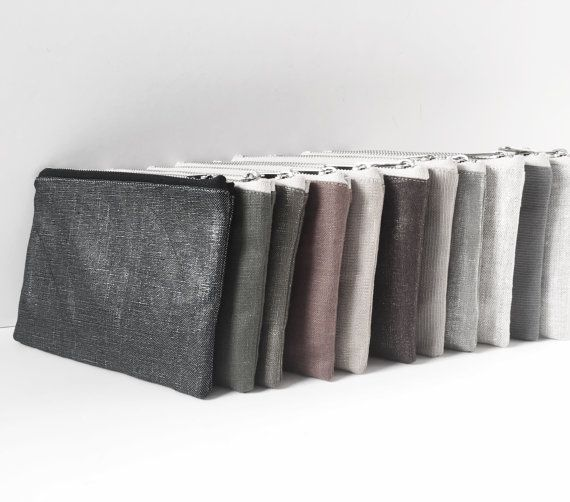 Small Clutch Bag, Mini Clutch, Small Zippered Bag, Metallic Bags, Small Linen Clutch, Mini Wristlet, Handbags, Linen Bags, Stocking Stuffers