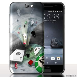 Coque A9 HTC ONE Poker. #Poker #A9 #HTC #Coque #Serie