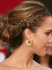 Jessica Albas cute braided hair