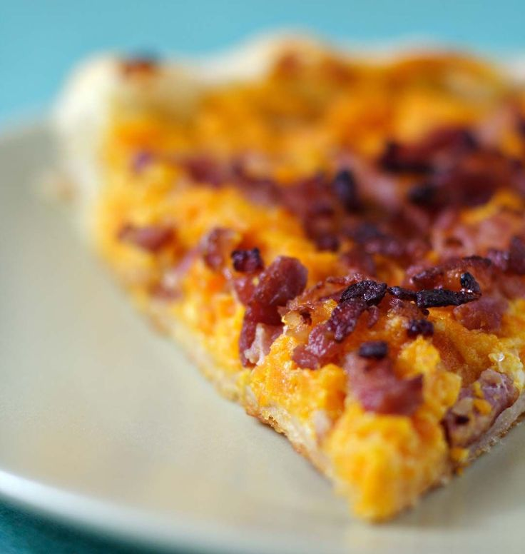 Photo de la recette : Tarte aux carottes et lardons