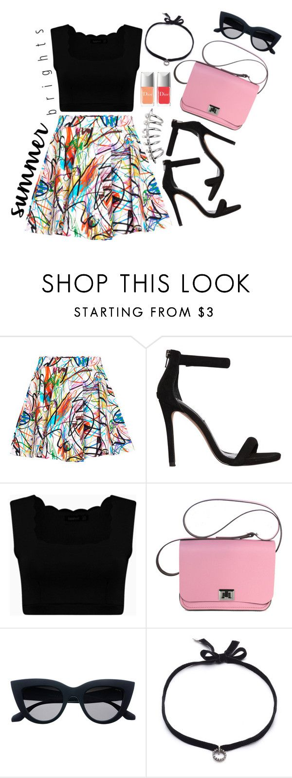 """Summer colours"" by elviretta on Polyvore featuring moda, Jeremy Scott, Steve Madden, DANNIJO e Christian Dior"