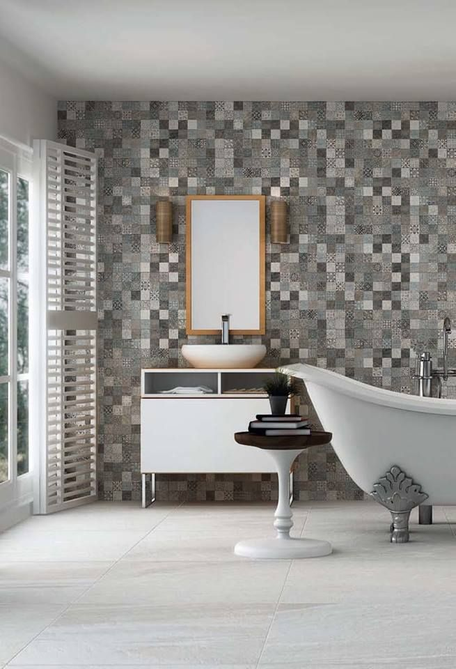 Ceramic Murals With Deco Lys To Achieve A Stylish And Beautiful Bathroom Stone Homesdo Doold