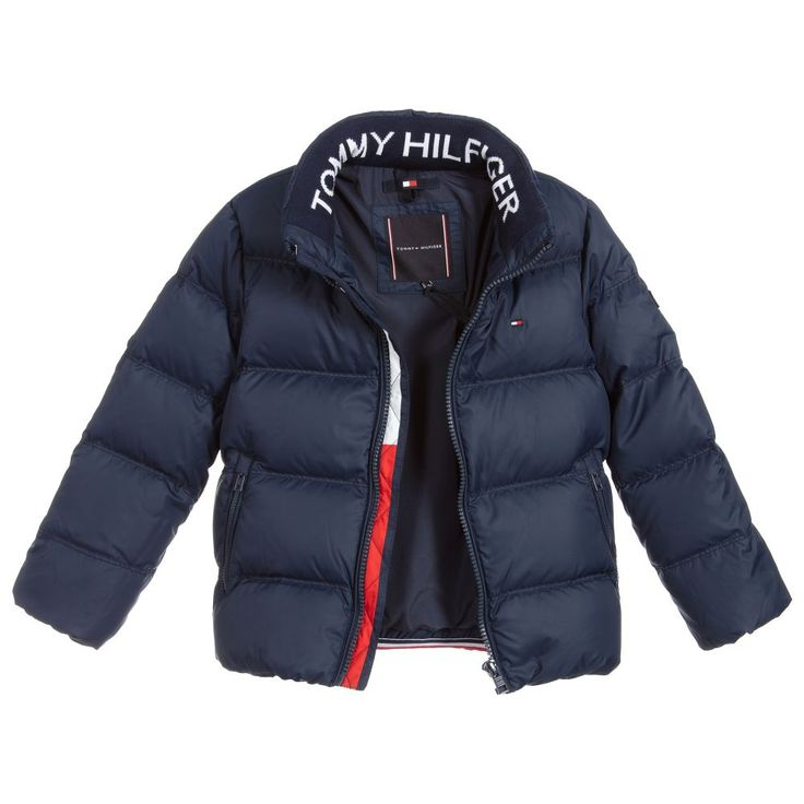 Boys blue down puffer jacket in 2020 puffer jackets boy