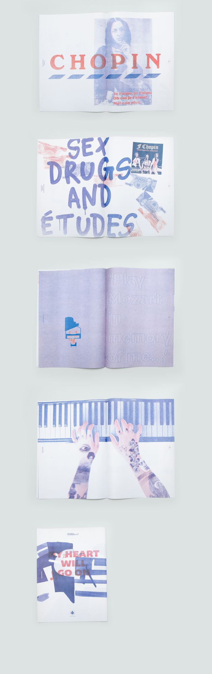 This Yearbook is a summary of the workshop of the Risograph printing. Our task was to create a concept, choose a work and then edit the graphic design. That number was associated with the life and work of Frederic Chopin. Book design Igor Kubik Ania Wieluńska