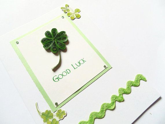 Quilled clover good luck card quilled cards good luck by KaisCards